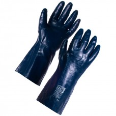 Blue Grit Cotton Supported Nitrile
