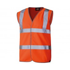 Dickies Orange Hi Vis Highway Safety Waistcoat