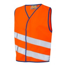 Leo Workwear Neonstars Children's Waistcoat orange