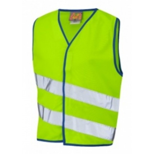 Leo Workwear Neonstars Children's Waistcoat lime