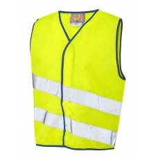 Leo Workwear Neonstars Children's Waistcoat yellow