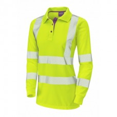 Leo Workwear Pollyfield Coolviz Plus Ladies Sleeved Polo Shirt