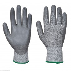 PortWest Cut 3 PU Palm Glove Comfort Grip Glassfibre HPPE