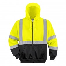 Portwest PW2 Hi-Viz Two-Tone Zipped Hoody