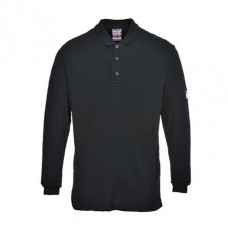 Flame-Resistant Long Sleeve Polo Shirt