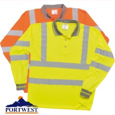 Hi-Viz Long Sleeve Polo Shirt