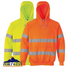 Portwest Hi-Viz Hooded Sweatshirt