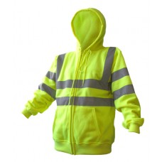 Beswift Hi-Viz Hooded Zipped Sweat Shirt