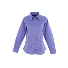 Ladies Pinpoint Oxford Long Sleeve Shirt