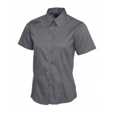 Ladies Pinpoint Oxford Short Sleeve Shirt