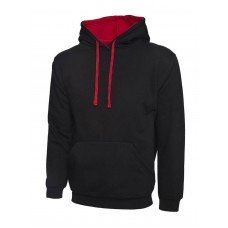 Uneek Contrast Hooded Sweat Shirt