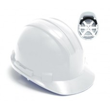 White 6 Point Safety Helmet