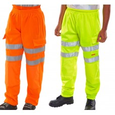 B-Seen Hi-Viz Jogging Bottoms