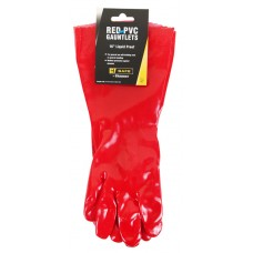 "BeeSwift Pvc Gauntlet Red 16"" Gloves"