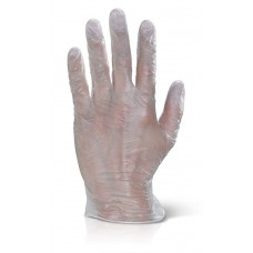 BeeSwift Clear Vinyl Disposable Gloves Powder Free Pack of 1000