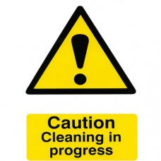 Caution Cleaning in progress Safety Sign (5 PK)