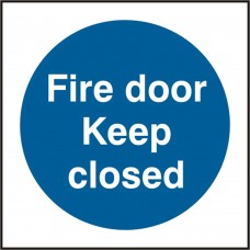Fire door Keep closed safety sign (5 PK)