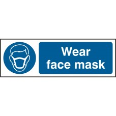 Wear fase mask Safety sign (5 PK)