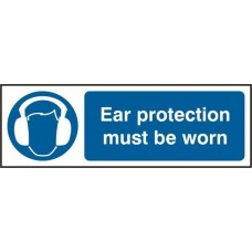 Ear protective must be worn Safety sign (5 PK)
