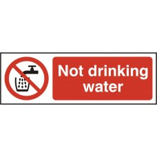 Not drinking water Safety sign (5 PK)