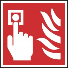 Fire alarm call point symbol safety sign (5 PK)