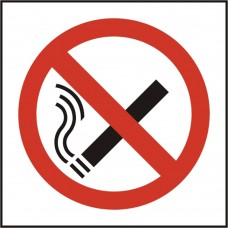 No smoking symbol safety sign (5 PK)