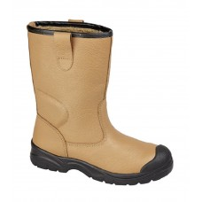 Grafters Leather Scuff Toe Safety Rigger Boots