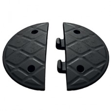 Jumbo 5cm End Caps Black (Pair)