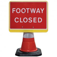 Portacone Sign Black Footway Closed
