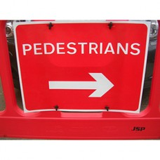 Pedestrians Right Barrier Sign Pack of 10