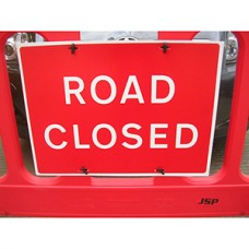 Road Closed Barrier Sign Pack of 10