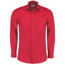 Kustom Kit Men's Long Sleeve Poplin Shirt