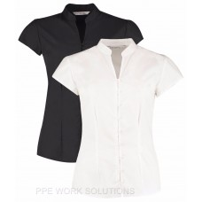 Kustom Kit Ladies' Continental Mandarin Collar Shirt
