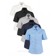 Kustom Kit Ladies Business Short Sleeve Shirt