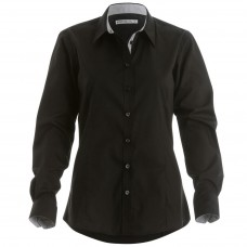 Kustom Kit Womens Contrast Premium Oxford Shirt Long Sleeved Shirt