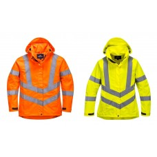 Ladies hi-viz breathable jacket