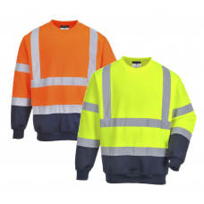 Portwest H-Viz Two Tone Sweatshirt