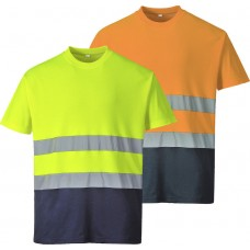 Portwest H-Viz Two Tone Cotton Comfort T-Shirt