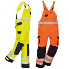 Portwest Hi-viz Contrast Bib and brace - Lined