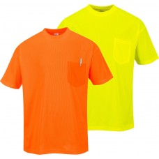 Portwest H-Viz Day-Viz Pocket Short Sleeve T-Shirt