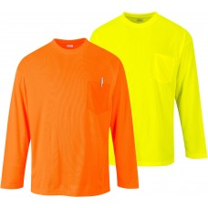 Portwes Day-Viz Pocket Long Sleeved T-Shirt