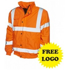 Hi-Viz Bomber Jacket with Free Logo