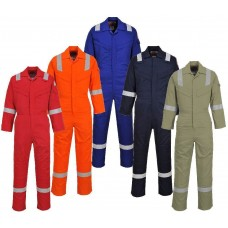 Portwest Flame Resistant Super  Light Weight Anti-Static Coverall