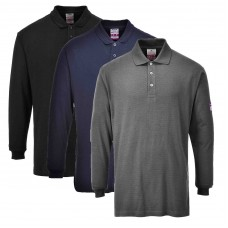 Portwest Flame-Resistant Anti-Static Long Sleeve Polo Shirt