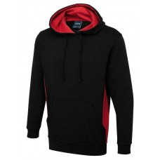 Uneek Two Tone Hooded Sweatshirt