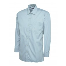 Uneek Men's Tailored Fit Long Sleeve Poplin Shirt