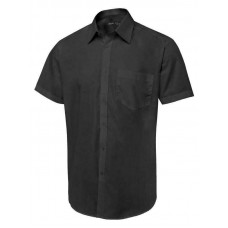 Uneek Men's Tailored Fit Short Sleeve Poplin Shirt
